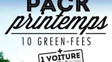 Pack printemps – 10 green-fees + 1 voiture offerte