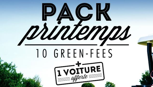 Pack printemps – 10 green-fees + 1 voiture offerte